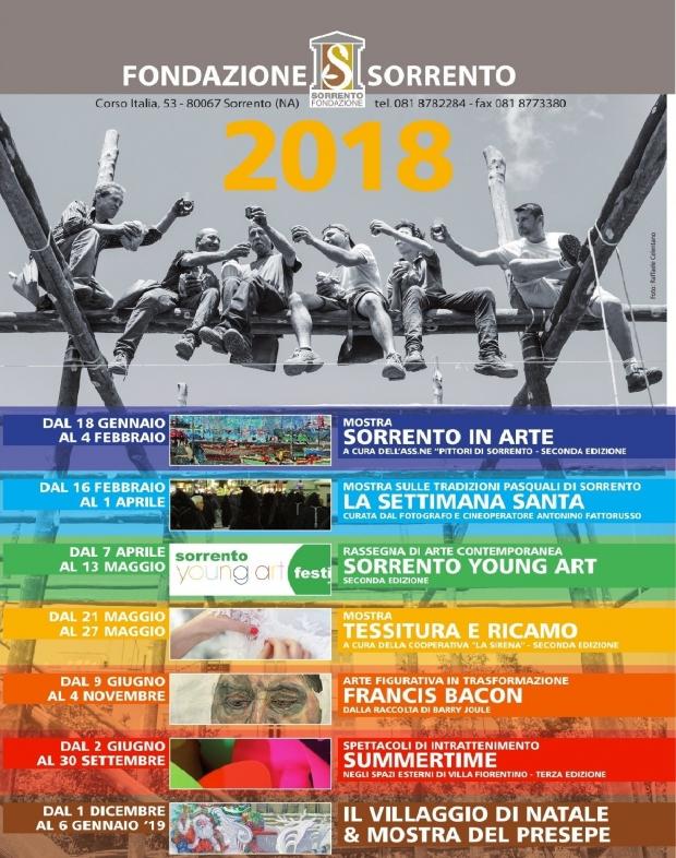 Eventi culturali della fondazione Sorrento per il 2018